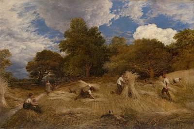 Painting - John Linnell 1792-1882 Wheat, 1860 by John Linnell