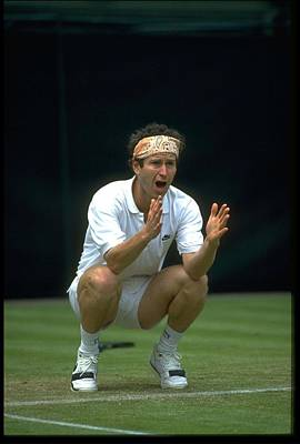 Photograph - John Mcenroe Usa Argues Call by Simon Bruty