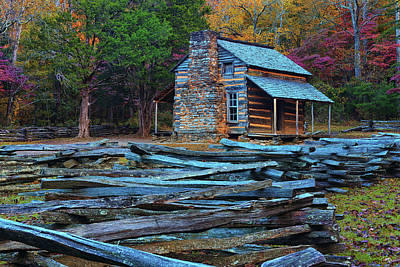 Photograph - John Oliver Cabin by Greg Norrell