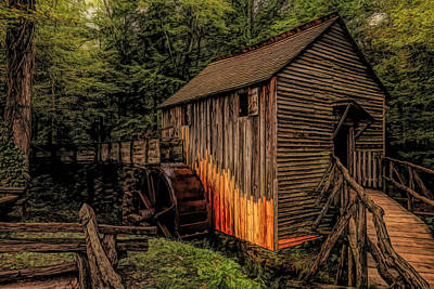 Rights Managed Images - John P. Cable Grist Mill HDR Royalty-Free Image by Judy Vincent