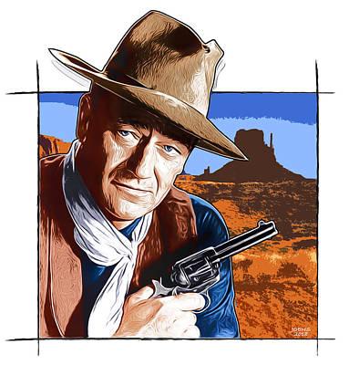 Digital Art - John Wayne 17OCT18 by Greg Joens