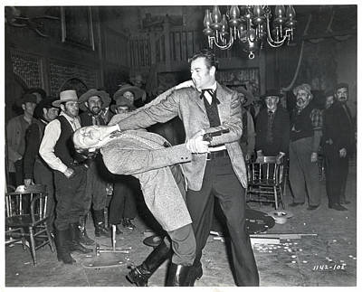 Photograph - John Wayne In Saloon Brawl Scenemovie by Bettmann