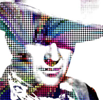 Painting - John Wayne Superstar Cowboy 48x48 by Robert R Splashy Art Abstract Paintings
