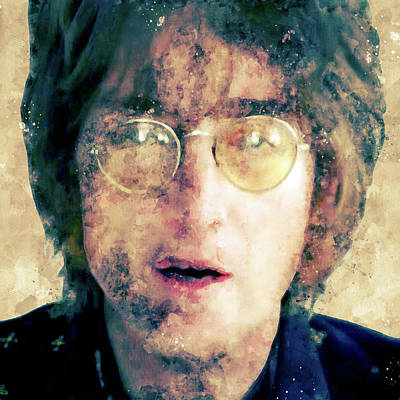 Digital Art - John Winston Lennon by Max Huber