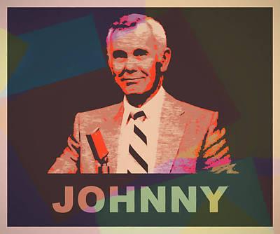 Actors Mixed Media - Johnny Carson Pop Art by Dan Sproul