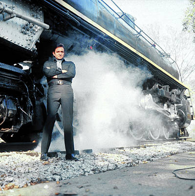 Photograph - Johnny Cash by Michael Rougier
