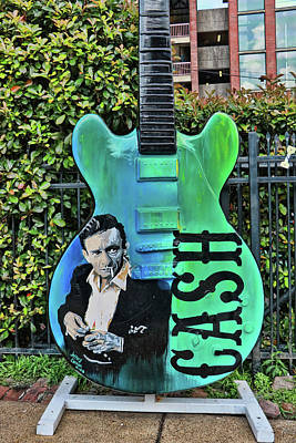 Photograph - Johnny Cash Tourist Guitar - Beale Street by Allen Beatty