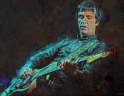 Musicians Royalty Free Images - Johnny Marr Musician Royalty-Free Image by Mal Bray