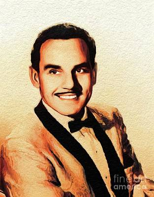 Music Paintings - Johnny Otis, Music Legend by Esoterica Art Agency