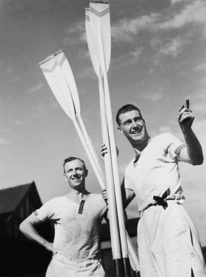 Oar Photograph - Jolly Oarsmen by Chaloner Woods
