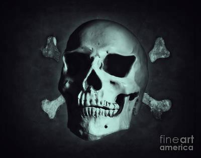 Digital Art - Jolly Roger by Nigel Bangert