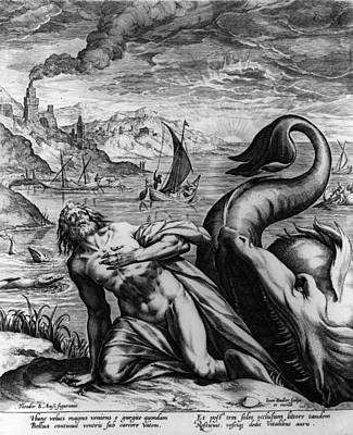Jonah And Whale Art Print by Hulton Archive