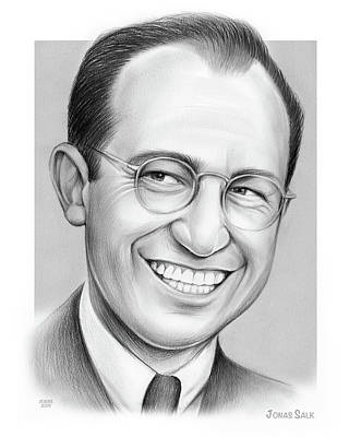 Line Drawing Quibe - Jonas Salk by Greg Joens