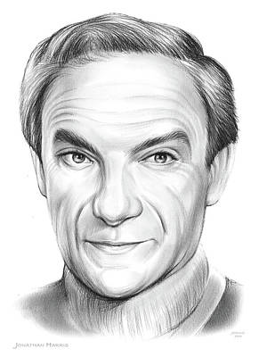Science Fiction Drawings - Jonathan Harris by Greg Joens