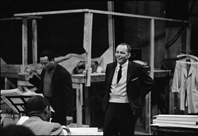 Photograph - Jones & Sinatra In Studio by John Dominis