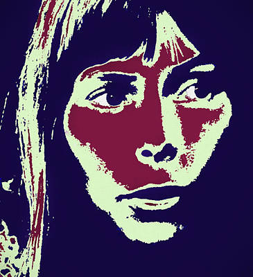 Painting - Joni Mitchell by Dan Sproul