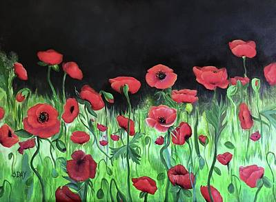 Painting - Jon's Poppies by Sandra Day