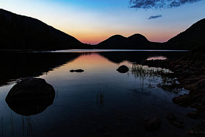Photograph - Jordan Pond At Dusk by Stefan Mazzola