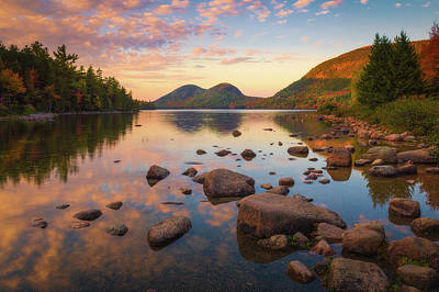 Photograph - Jordan Pond Sunset by Kim Carpentier