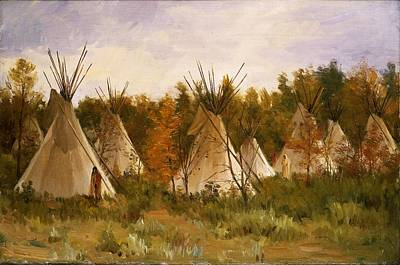 Painting - Joseph Henry Sharp - The Summer Camp C.1906 by Joseph Henry Sharp