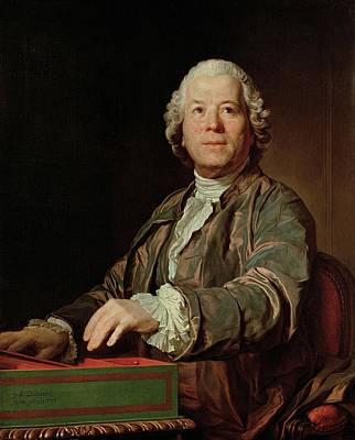 Painting - Joseph-siffred Duplessis - Portrait De Christoph Willibald Ritter Von Gluck 1775 by Joseph-Siffred Duplessis
