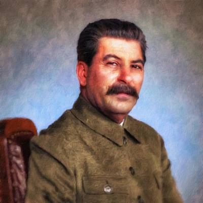 Painting - Joseph Stalin by Vincent Monozlay
