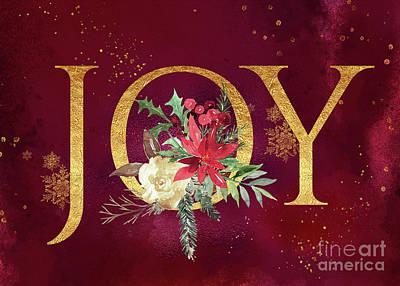 Digital Art - Joy Holiday Art  by Anita Pollak