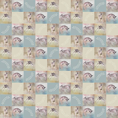 Photograph - Joyful Little Fawns Collage by Jai Johnson