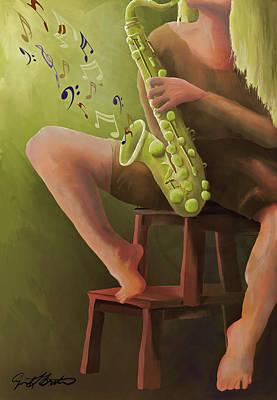 Digital Art - Joys Of The Saxophone by April Burton