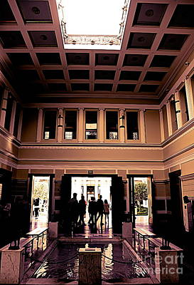 Photograph - J.paul Getty Villa Interior  by Chuck Kuhn