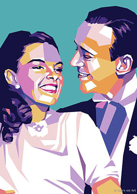 Wine Down Royalty Free Images - Judy Garland and Fred Astaire Royalty-Free Image by Stars on Art