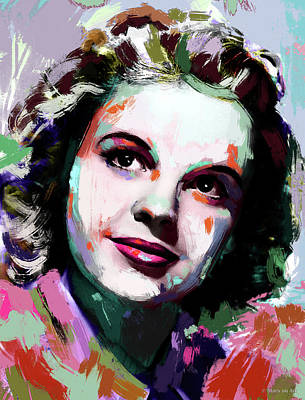 Pretty In Pink - Judy Garland painting by Stars on Art