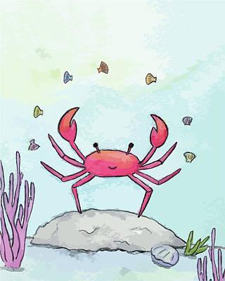 Digital Art - Juggling Crab by Kim W Nolan