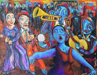 Painting - Juke Joint by Robert Wolverton Jr