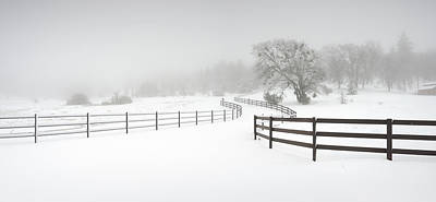 Photograph - Julian Fence And Snow by William Dunigan