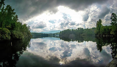 Photograph - Julian Price Lake With Cloudy Reflections In Summer by Alex Grichenko