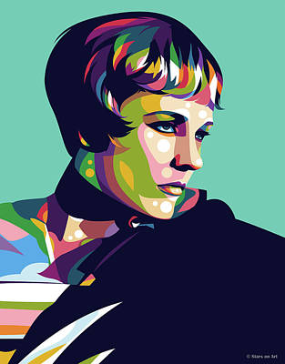 Digital Art Royalty Free Images - Julie Andrews Royalty-Free Image by Stars on Art