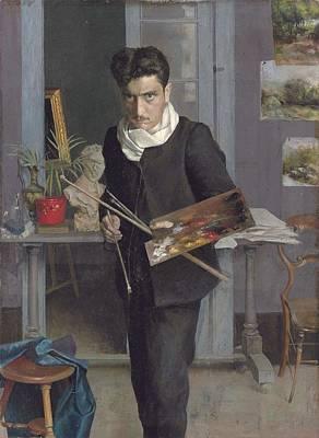 Painting - Julio Romero De Torres, Selfportrait Ca. 1905 by Julio Romero de Torres