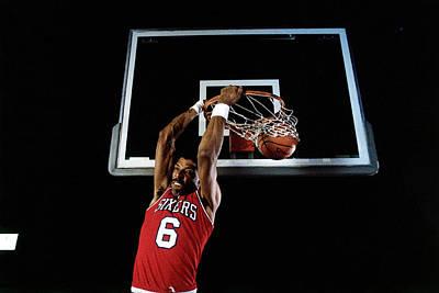 Photograph - Julius Erving Slam Dunk by Walter Iooss Jr.