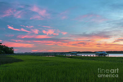 Photograph - July 18, 2013 Sunset Over The Wando River by Dale Powell