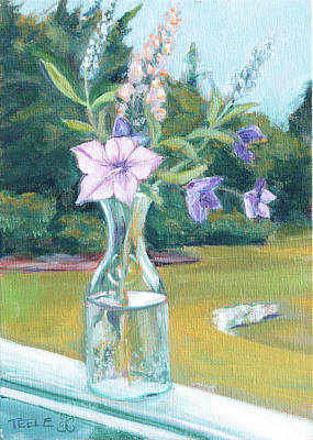 Painting - July Flowers by Trina Teele