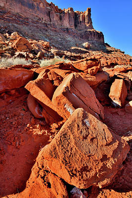 Photograph - Jumbled Red Rocks Along Highway 191 In Utah by Ray Mathis