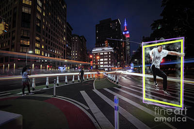 Photograph - jumping  Man NYC by Roman Gomez