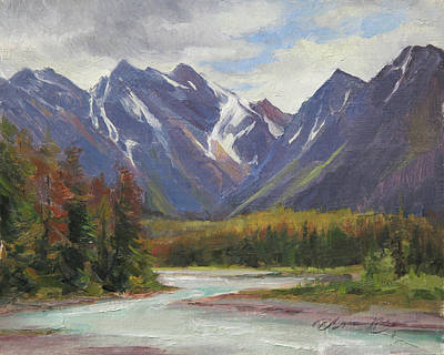 Banff Wall Art - Painting - June Drama, Jasper National Park, Canada by Anna Rose Bain