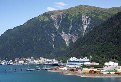 Photograph - Juneau City Port by Ramunas Bruzas