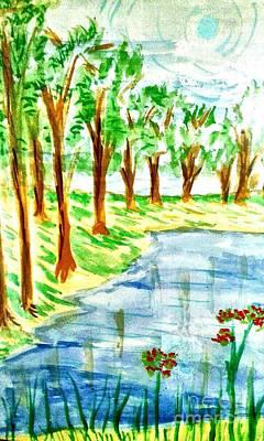 Abstract Stripe Patterns - Jungle-brookside by Ayyappadas-KCME