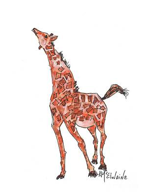 Painting - Jungle Giraffe April by Kathleen McElwaine