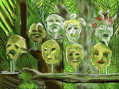 Digital Art - Jungle Spirits by Jean Pacheco Ravinski