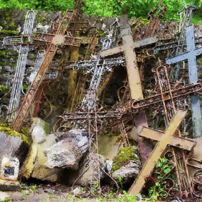 Digital Art - Junk Crosses by Pekka Liukkonen