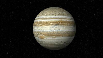 Photograph - Jupiter On Star Field Xxxl by Inhauscreative